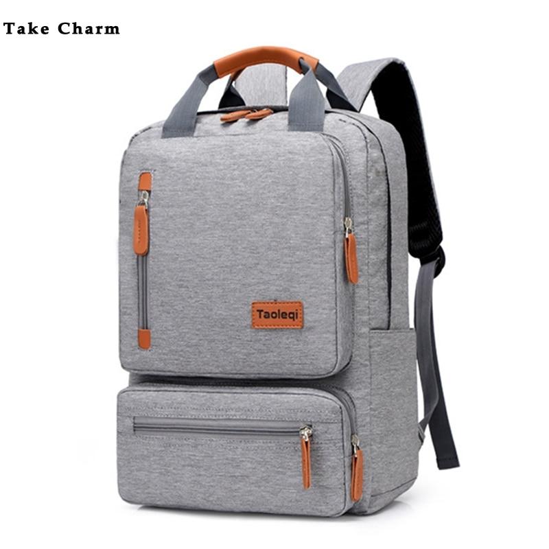 Neformalni poslovni muškarci ruksak za računala lagani 15-inčni torba za laptop vodootporna oksfordska tkanina dama protuprovalni putnički ruksak sive boje
