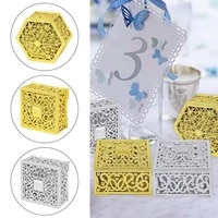 15pc gold and silver hollow candy boxs for birthday wedding party decoration gift box baby shower chocolate cookie box supplies