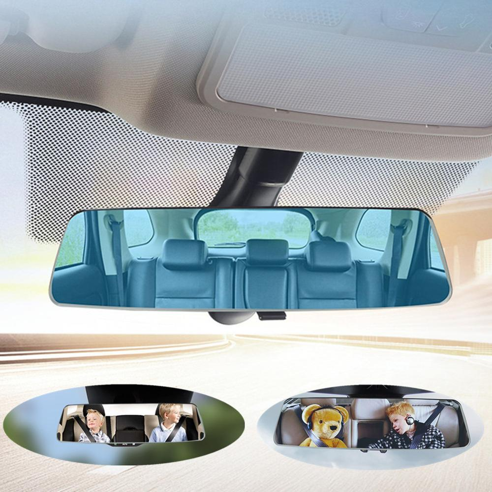 Carro espelho retrovisor hd anti-reflexo azul espelho de estilo do carro monitor de bebê espelho de carro grande angular invertendo estacionamento espelho retrovisor