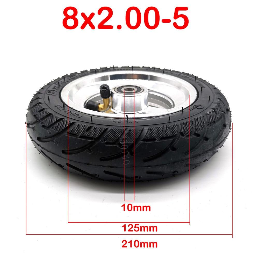 Бескамерные шины 8x2, 00-5 с ступицей, колеса 8x2, 0-5 подходят для мини-велосипедных колясок Kugoo C3 S3 S2 Mini, электрический велосипед