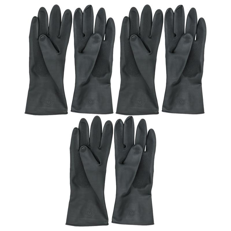 3 pares = 6 uds. De guantes de tinte de pelo de peluquero negro antideslizantes protectores de manos impermeables suministros de peluquería Belleza del cabello herramienta de cuidado de manos