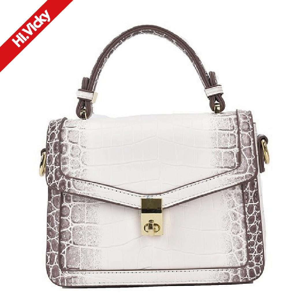 Famous Designer Brand Handbags 2021 New European Fashion Luxury Ladies Handbag With Crocodile Pattern Black Messenger Bag