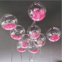 12/24/36 zoll Keine Falten Bobo Transparent PVC Ballon Geburtstag Party Dekoration Luftballons Helium Bobo Luftballons Feder weihnachten