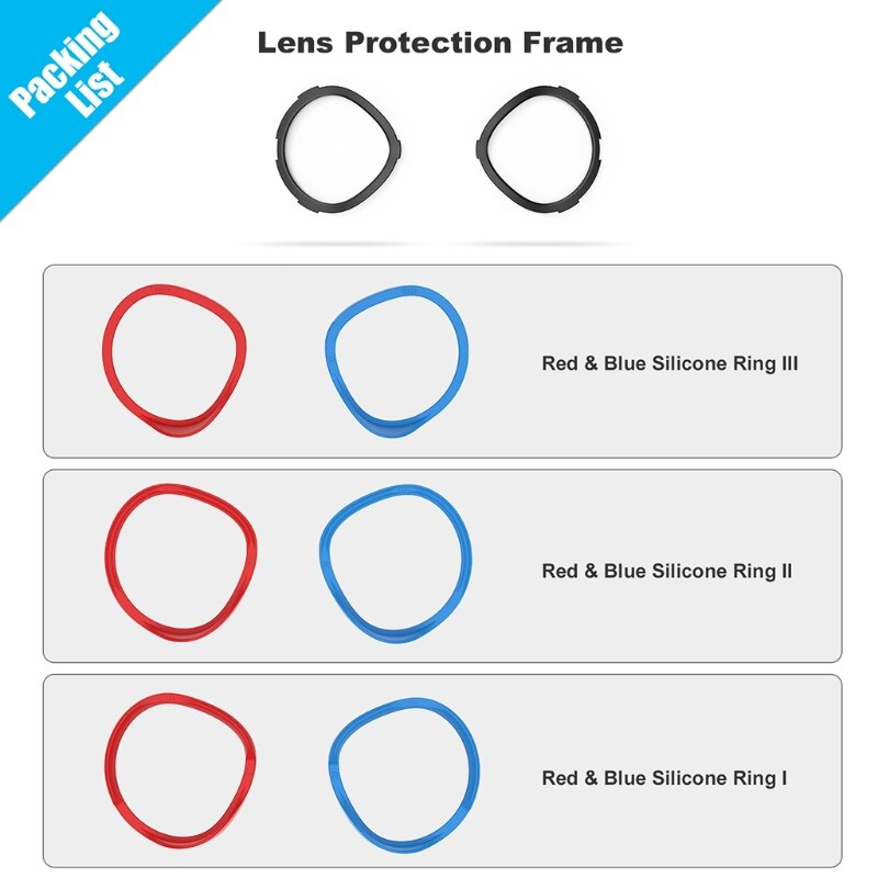 VR Lens Anti-Scratch Ring Protecting Myopia Glasses from Scratching VR Headset Lens for -Oculus Quest 2 VR Accessories enlarge