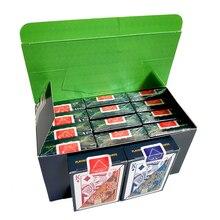 12 سطح السفينة/صندوق جودة مقاوم للماء بولي كلوريد الفينيل البلاستيك أوراق اللعب مجموعة الاتجاه بوكر الكلاسيكية السحرية الحيل الأبيض بطاقات بوكر صندوق معبأة