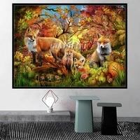 ciro marchetti artwork spirit of autumn fox deer diamond painting 5d embroidery cross stitch diy mosaic handmade home wall decor