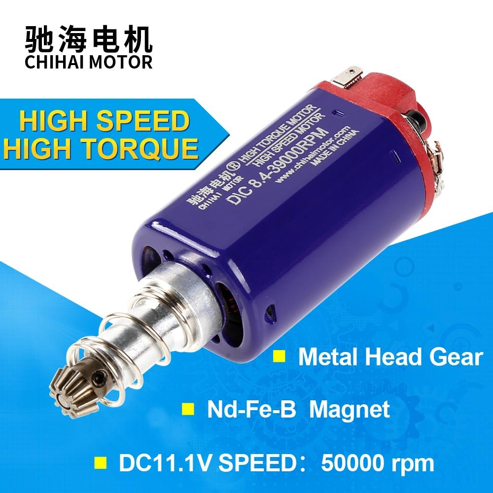 Chihai motor CHF-FS480WA ndfeb engrenagem do motor para airsoft bbgun m140 m4 m16 mp5 g3 m14 alto torque/alta velocidade d airsoft aeg