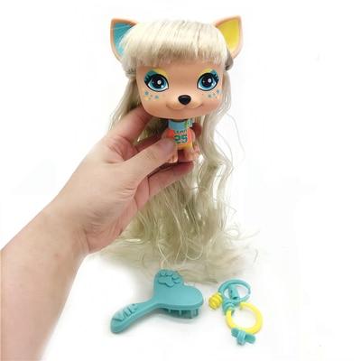 1Pcs 11cm  Lovely old Pet VIP Dog PVC Model Gift Toy for baby dolls
