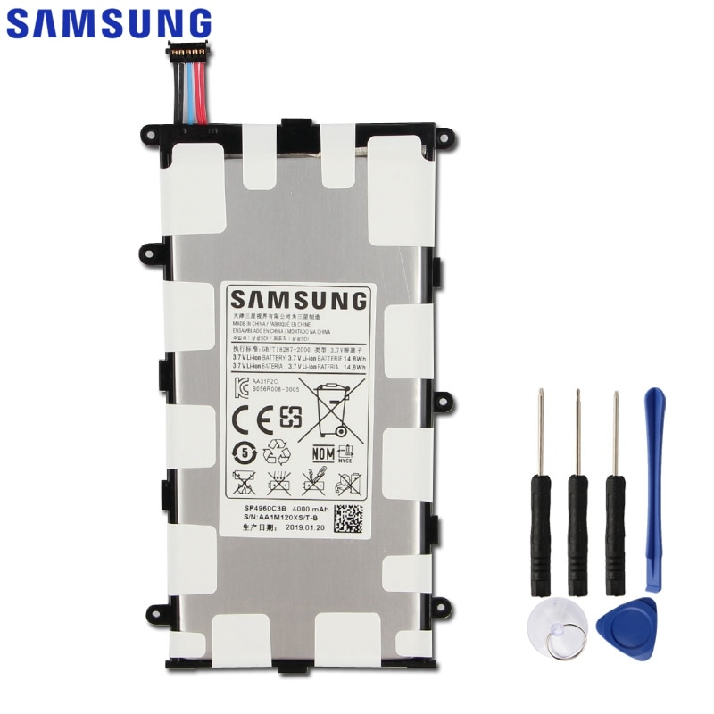 Samsung Original SP4960C3B Batterie Für Samsung GALAXY Tab 7,0 Plus P3110 P3100 P6200 P6210 Ersatz Tablet Batterie 4000mAh