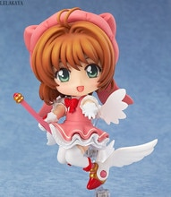 Mini Cartoon Japan Anime Card Captor Sakura Action Figure Kinomoto sakura PVC figure 400 Q Ver Model Cosplay Decoration Toy 10cm