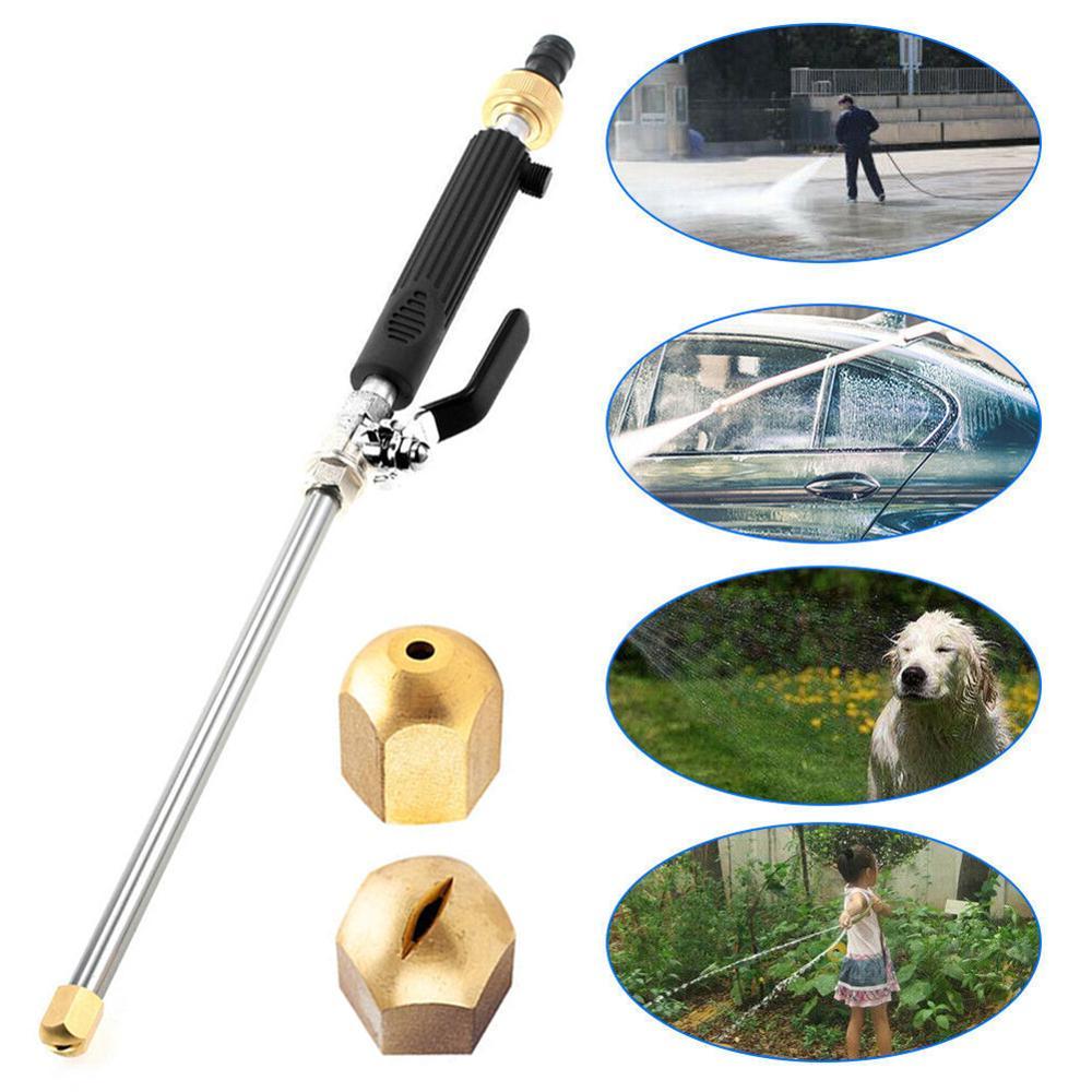 Pistola de agua de alta presión para coche Hydro Jet, 46 cm, rociador para jardín, manguera, boquilla, rociador, riego, rociador, herramienta de limpieza
