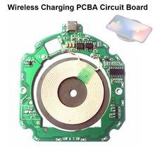 Bricolage 10W QI rapide chargeur sans fil Micro USB PCBA Circuit imprimé rond accessoires de charge pour Iphone X pour Samsung S10 Note10 +