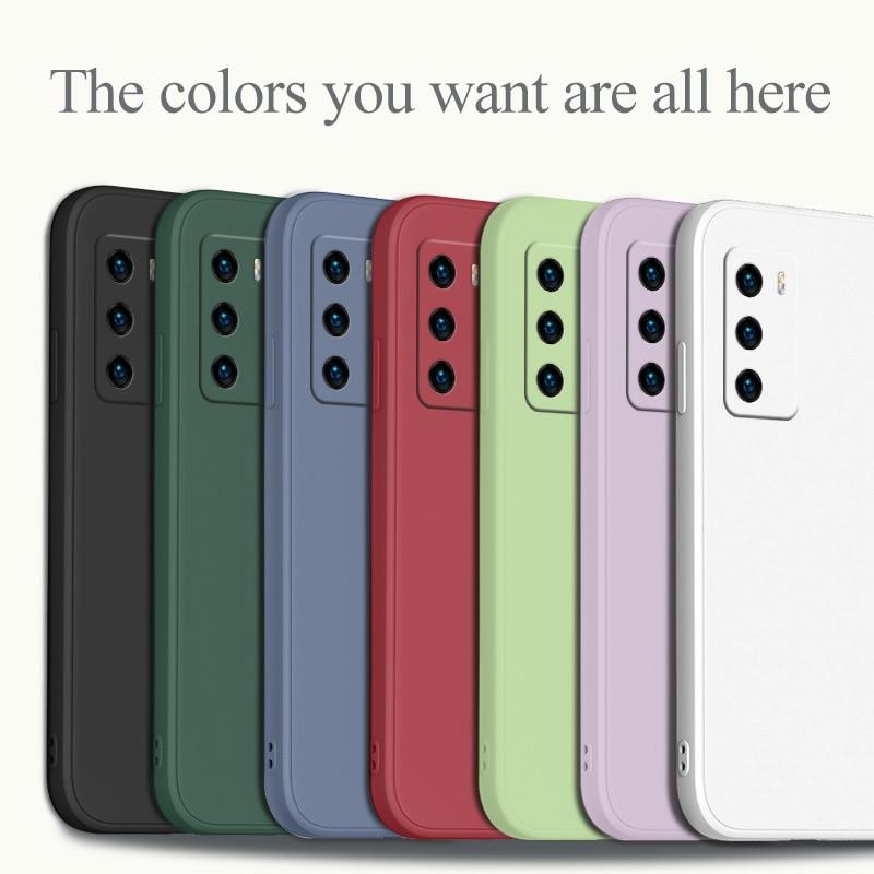Solid Color Soft Shell Case For Huawei P40 P40Lite P30 P20 Mate 40 40Pro 30 20 Pro Lite P Smart 2021