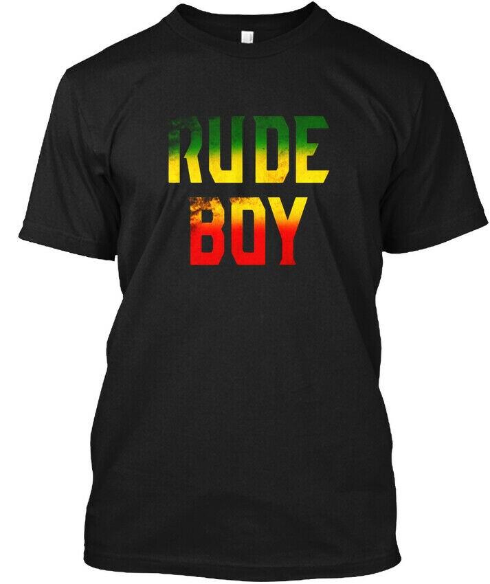 Rude Boy Rasta Reggae Roots regalos ropa Jamaica-Camiseta sin etiqueta