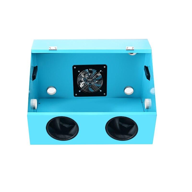 صندوق معدني متكامل للأتربة 220 فولت مجموعة أدوات سطح المكتب شمع العسل الجدول طاحونة آلة الحفر مقاوم للماء والغبار صندوق مقاوم
