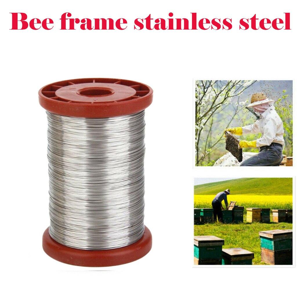1 rollo de alambre de acero inoxidable de 0,5mm 500g para marcos de herramientas de apicultura colmena colmenas de abeja equipo de apicultura # N