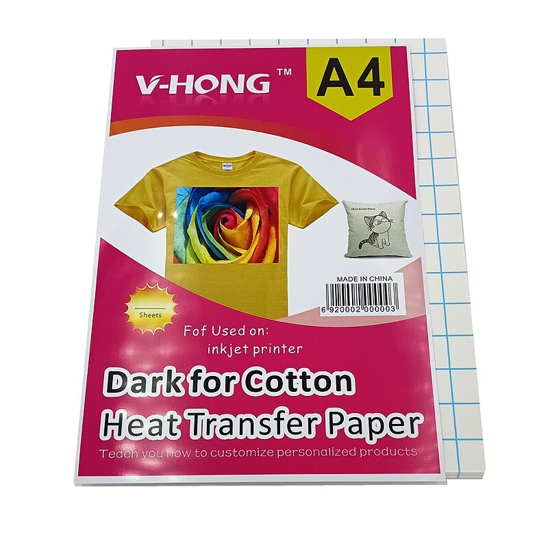 50sheets dark cotton T-shirt Heat Transfer Paper 8.26x11.7 Inch Fabric Vinyl Iron-on Thermal Sublimation Paper