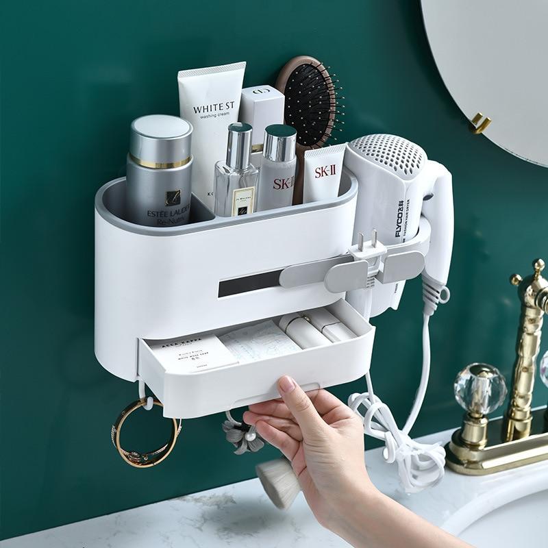 Secador plástico Rack agujero-Accesorios de baño de almacenamiento de soporte estante de...