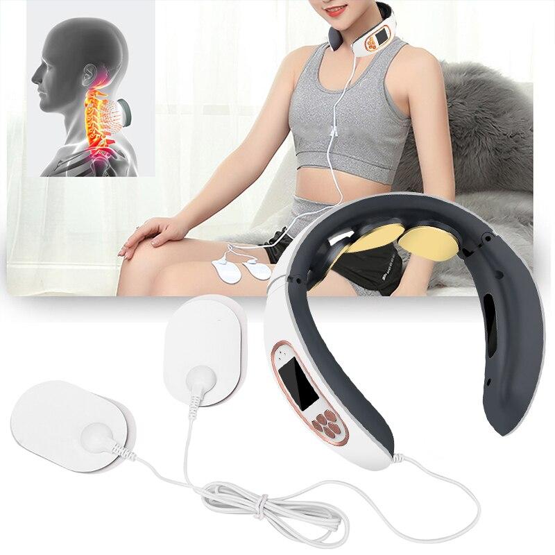 3 رؤساء الرقبة مدلك لتخفيف الآلام الاسترخاء الكهربائية تدليك عنق الرحم للظهر الرقبة نبض آلة الكتف فقرة الرعاية الصحية