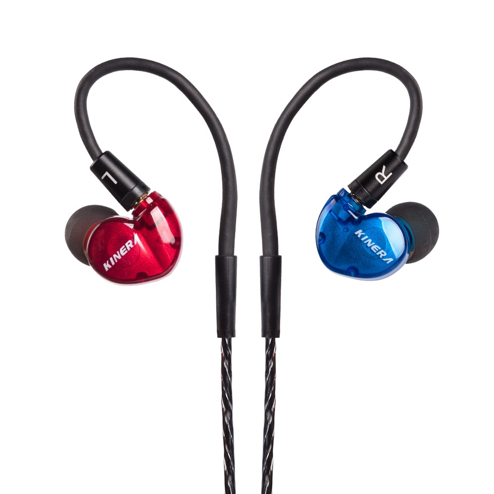 AK KINERA BD005 1DD+1BA Hybrid In Ear Earphones Earbud HIFI DJ Monitor Running Sports Earphone Earplug With Mic Detachble Cable