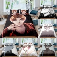 3d printed comic handsome bedding set cute duvet cover bedclothes 23pcs home textile luxury bedspread for boys girls