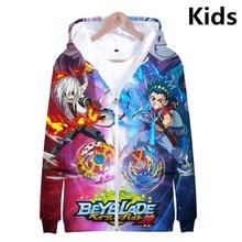 3 à 14 ans sweat à capuche enfants Beyblade Burst Evolution 3d imprimé sweat à capuche sweat Harajuku Streetwear veste enfants vêtements