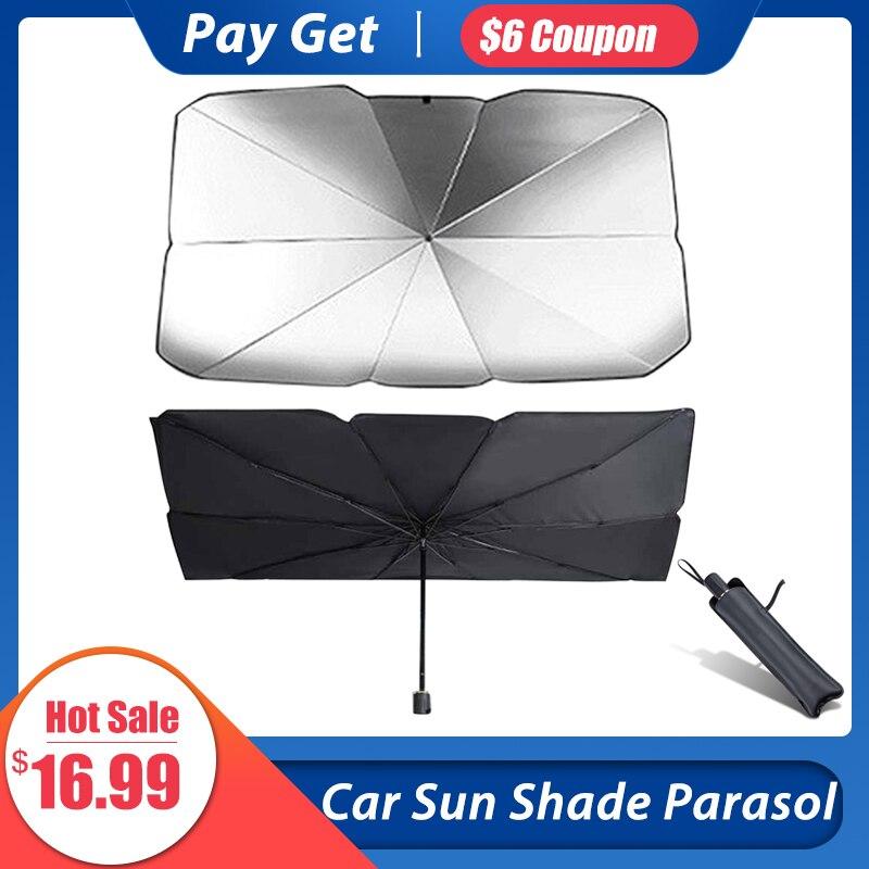 Parasol para parabrisas de coche, protección contra rayos UV y visera térmica, parasol Reflector plegable, sombrilla portátil para exteriores