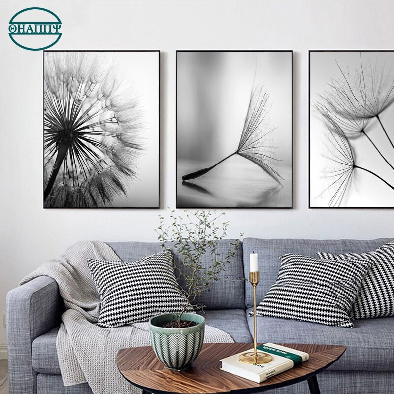 Dandelion Plant Wall Art Canvas Painting Poster and Print For Living Room Decoration Pictures Unframed  - buy with discount