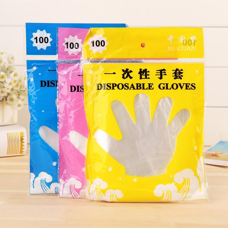 100 шт безопасные промышленные одноразовые домашние латексные перчатки нескользящие перчатки пищевые Перчатки универсальные перчатки для очистки влево и вправо