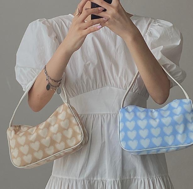 Female bag lady cute simple style fashion small bag lovely heart vintage girl messenger shoulder bag kiu898w