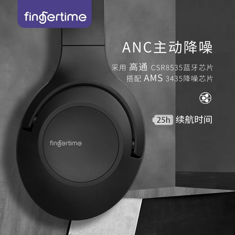 Active noise reduction ANC headset 5.0 wireless Bluetooth black technology headset popular hifi sports headset enlarge