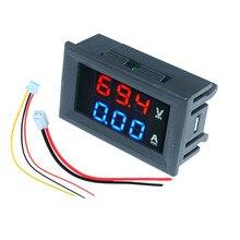 Mini voltmètre de voiture numérique ampèremètre DC 100V 10A 50A 100A LED panneau daffichage ampèremètre tension courant compteur testeur détecteur