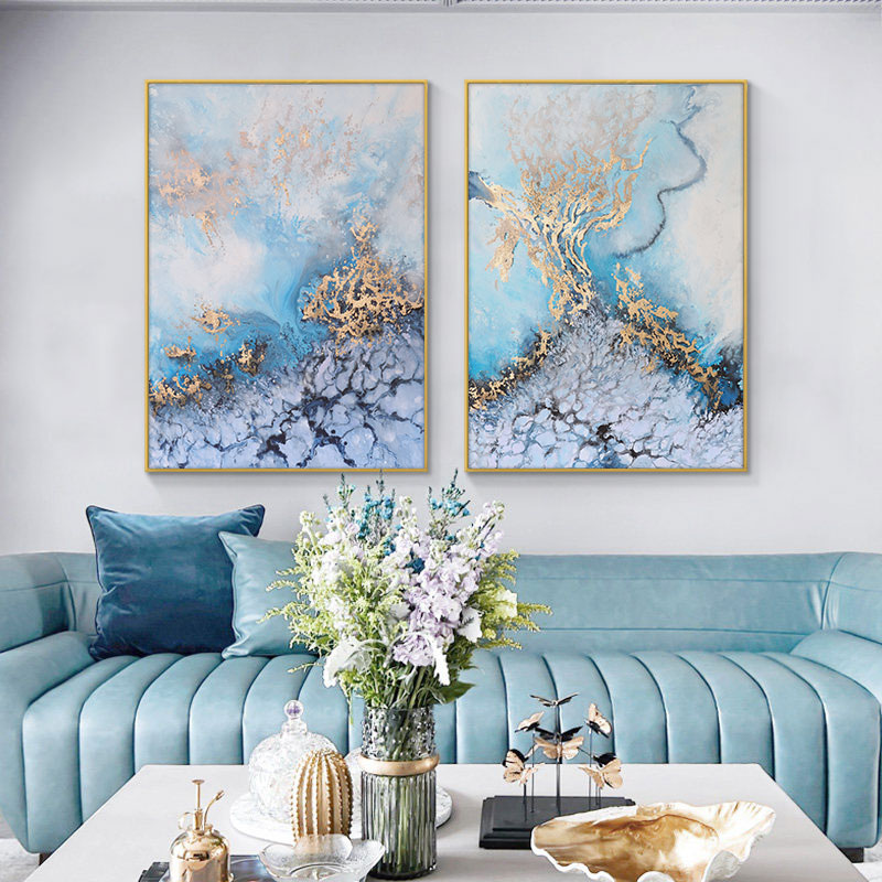 Abstract Sea Landscape Canvas Painting Nordic Style Posters and Prints Cuadros Wall Art Pictures for Living Room Home Decoration