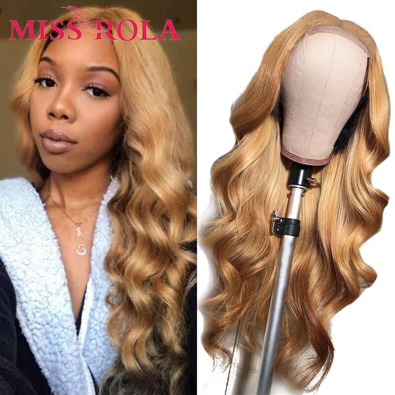 Miss Rola-شعر مستعار برازيلي مموج ، شعر ريمي طبيعي ، مظلل 99J ، أشقر بورجوندي ، كثافة 180% ، 4*4