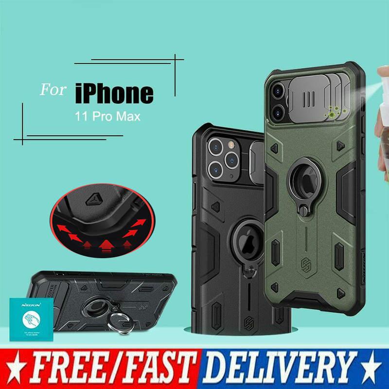 Camshield Armadura Case Para iPhone 11 Pro Max Anel Titular Tampa Da Câmera de Slides