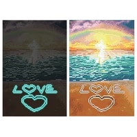 new 5d diy luminous diamond painting special shaped embroidery cross stitch seaside scenery rhinestone home decoration gift