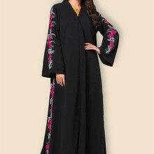 Vestido de talla grande M-4XL Abaya vestido musulmán árabe islámico de manga larga para hombres vestido bordado pakistaní Dubai islámico Vestidos para mujeres