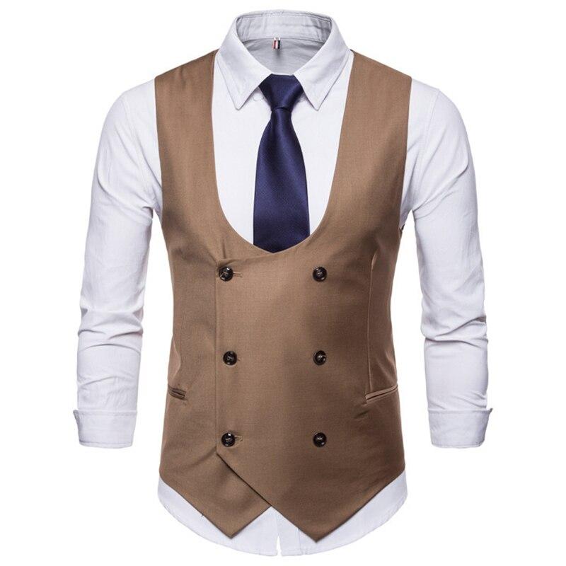 الرجال الرسمي الأعمال عادية الصدرية البدلة سليم مزدوجة الصدر منقوشة صدرية معطف سترات الدعاوى