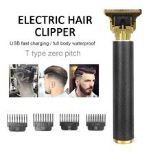 T Bald Head Hair Clipper Mower Rechargeable Trimmer T-Outliner Barber Shaving Machine Hair Cutting C