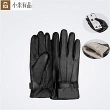 YouPin Qimian Lammfell Touchscreen Handschuhe Spanisch Raw Winter Herbst Verdicken Warme unisex für fahren, moto, angeln Handschuhe Für Männer