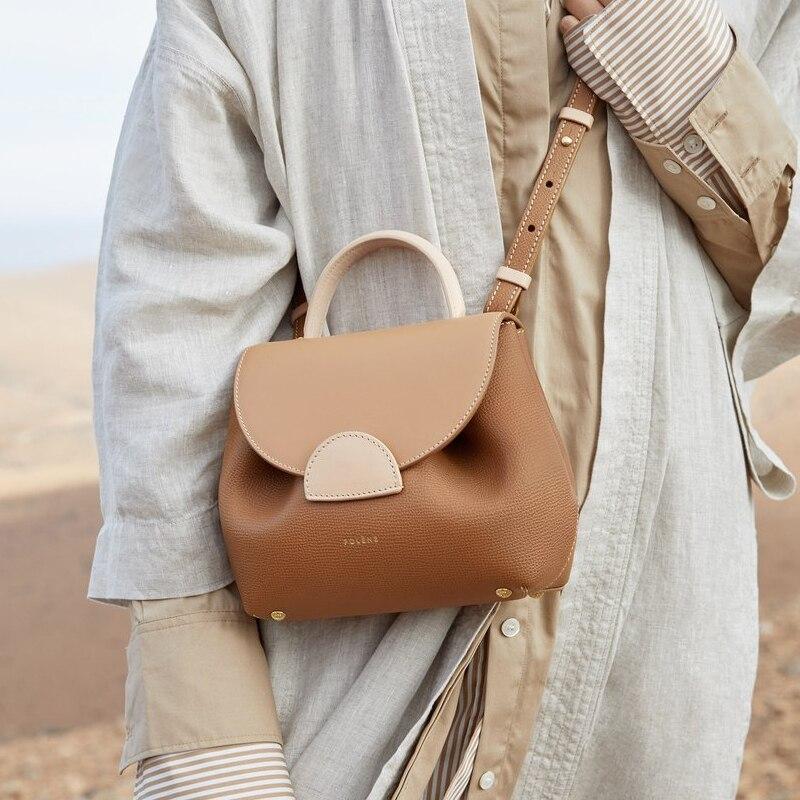 صغيرة بولي حقيبة المرأة الفرنسية تصميم ضوء الفاخرة واحدة الكتف حقائب كروسبودي الجلود المحمولة حقيبة الإناث