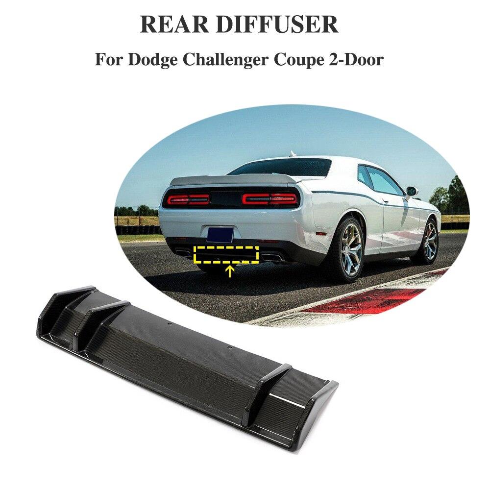 Lèvre de diffuseur de pare-chocs arrière de voiture de Fiber de carbone pour Dodge Challenger 2015 - 2019 aileron de lèvre de diffuseur de pare-chocs arrière ajouter sur