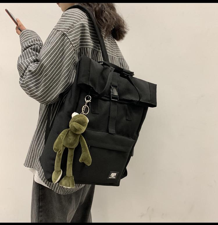 J2978-حقيبة المدرسة الثانوية ، حقيبة مدرسية متعددة الوظائف وذات سعة كبيرة لطلاب الجامعات