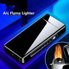 Nuovo accendino USB creativo arco fiamma accendino antivento ricarica USB accendisigari accendisigari accendino elettronico al Plasma