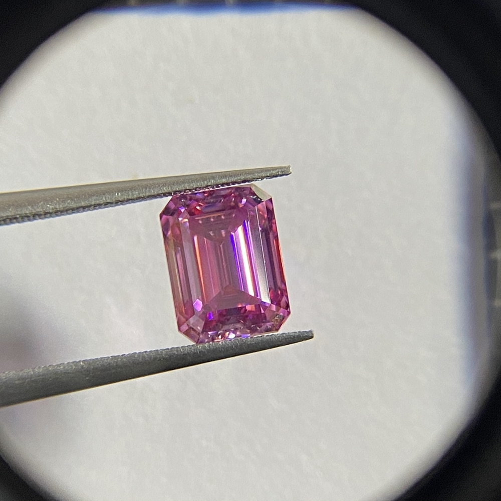 Meisidian الزمرد قص 10x8 مللي متر 4 قيراط أحجار كريمة مفكوكة يتوهم الوردي مويسانيتي الماس السعر للقيراط