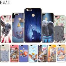 EWAU Dumbo lindo elefante de silicona Mattle funda de teléfono para Xiaomi 6 8 9 SE A1 A2 Lite mezclar 2S Max 3 F1 A3 9T Pro CC9e 9 Pro Nota 10
