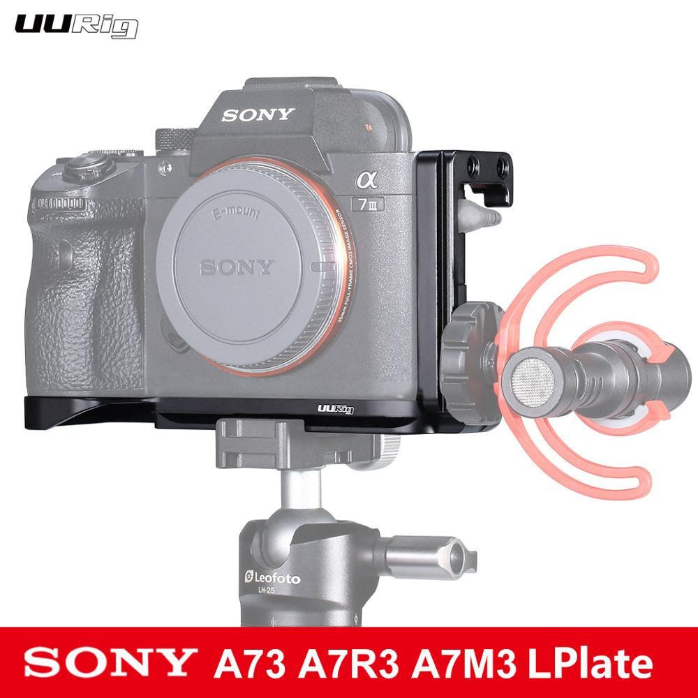 UURig R013 الإفراج السريع L لوحة الباردة الحذاء جبل تمديد Micr الفيديو الضوئي لسوني A7III A73 A7R3 A7M3 DSLR كاميرا الملحقات