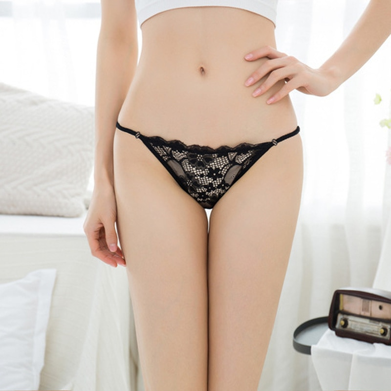 Hot Sale In Europe and America 2021 Transparent Underwear Ladies One Piece Lace Seamless Sexy Women Panties