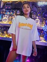fashion oversized t shirt women harajuku ulzzang streetwear tops letter print tshirt casual short sleeve t shirt female clothing