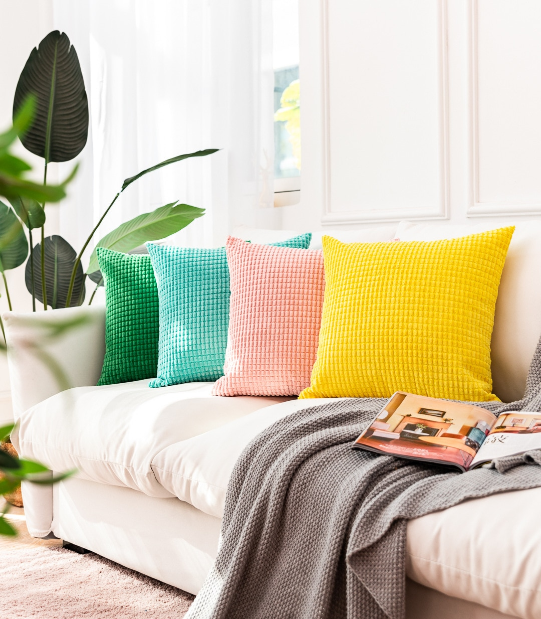 AliExpress - 2021 Throw Velevt Cushion Cover For Sofa and Chair Decorative Plush Pillowcase For Couch, 40×40, 45×45, 50×50, 60×60, Muti Sizes